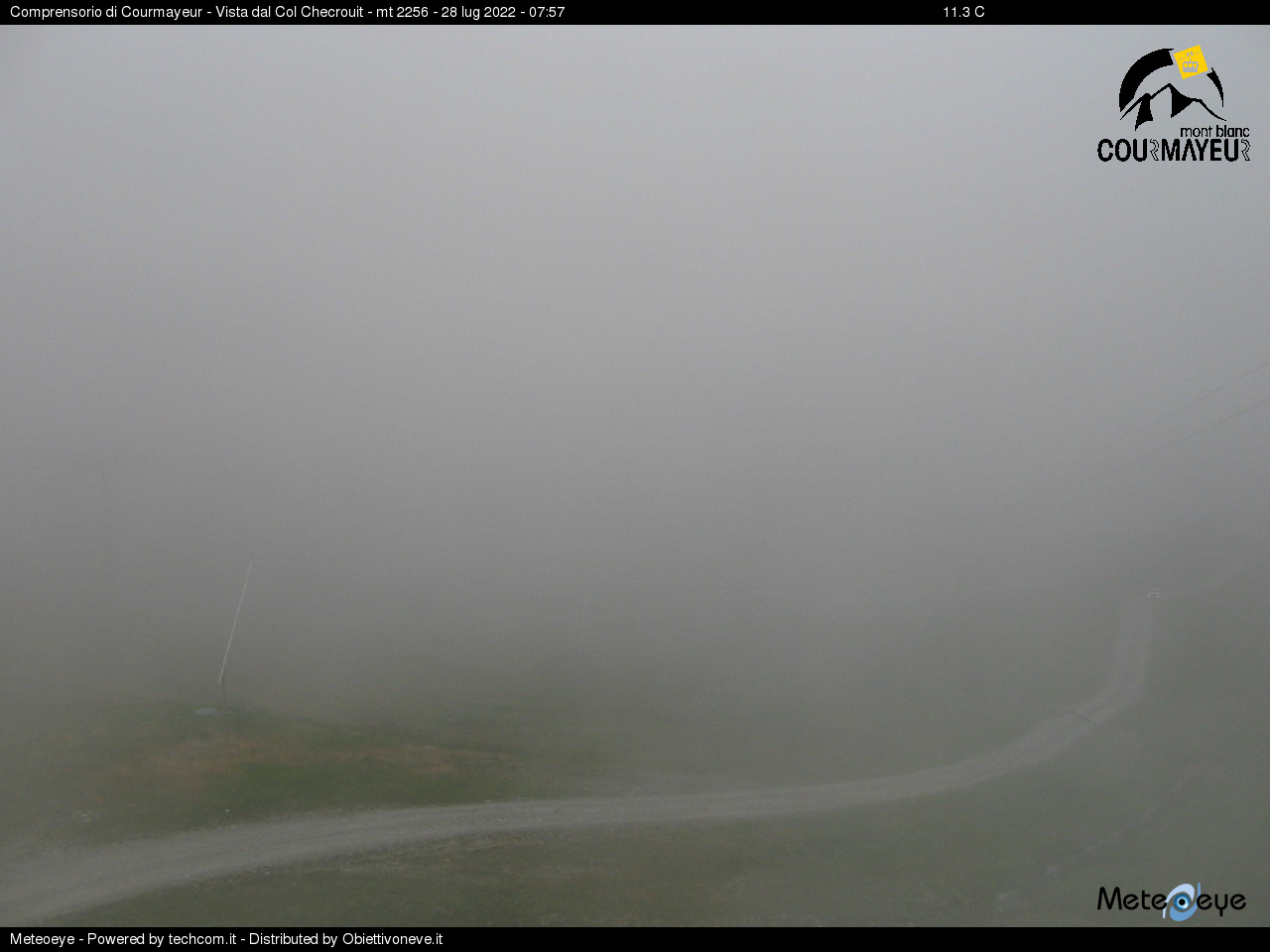 Webcam Col Checrouit - Courmayeur