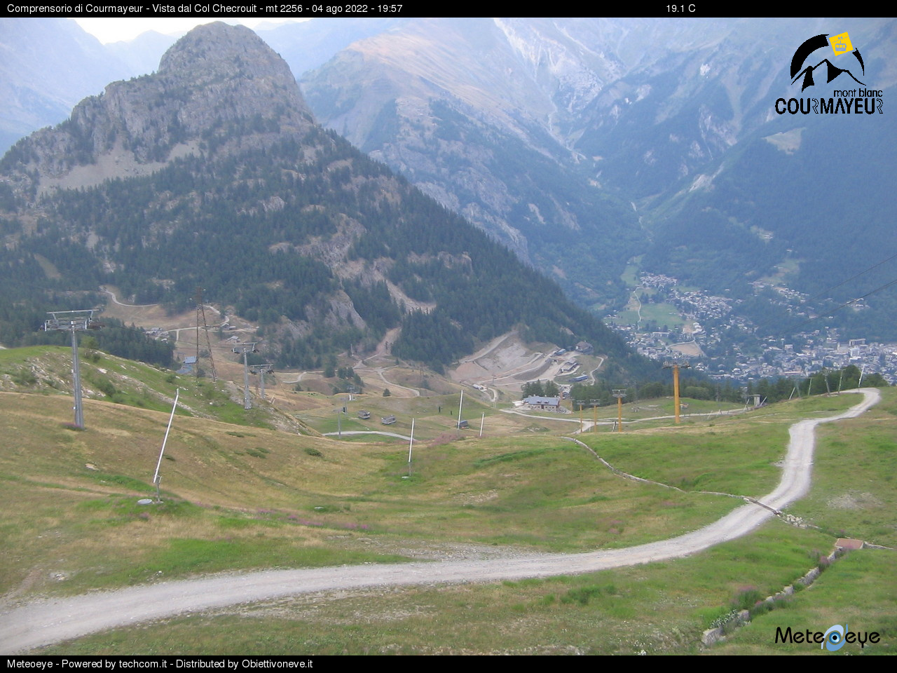 Webcam Courmayeur View Monte Bianco