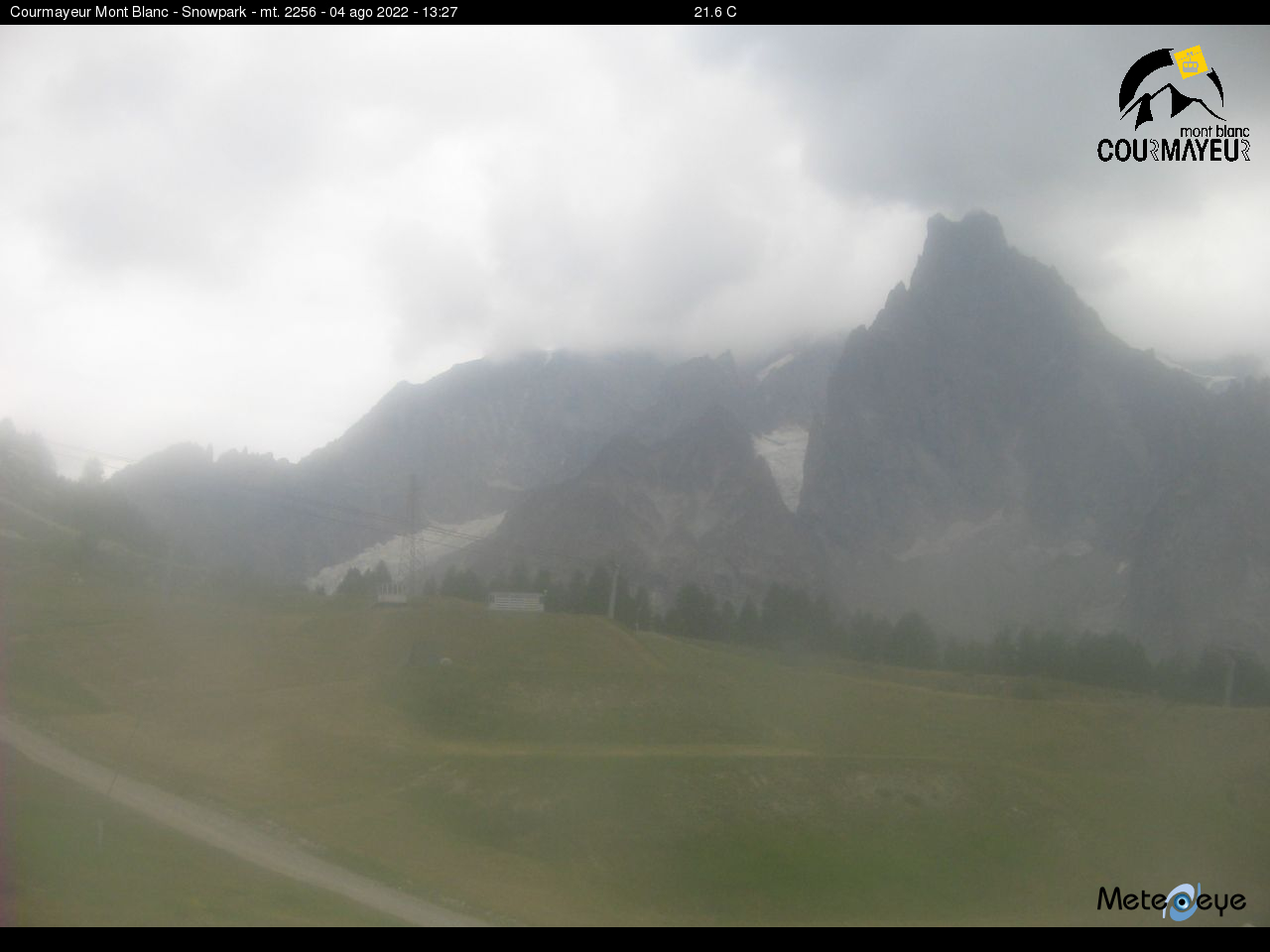 Comprensorio sciistico di courmayeur webcam